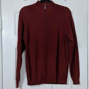 Men's Oscar De La Renta 1/4 Zip Sweater